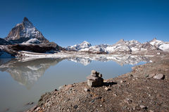 Matterhorn and it's reflection Royalty Free Stock Photo