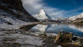 Matterhorn's reflection Royalty Free Stock Image