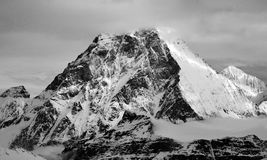 Matterhorn. Scenic view of Matterhorn with clouds covering its summit, as seen from the top of Western Breithorn Royalty Free Stock Photos