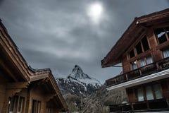 Matterhorn - Schweiz Arkivfoton