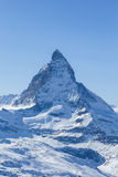 Matterhorn. Shot of the famous Matterhorn mountain, one of the highest peaks in Europe, and the mountain featured on Toblerone chocolate Stock Image