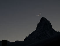 Matterhorn silhouette Stock Photography