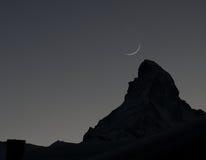 Matterhorn silhouette Stock Photography