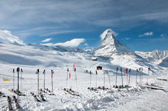 Matterhorn ski paradise Royalty Free Stock Photography