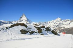 Matterhorn ski route Stock Image