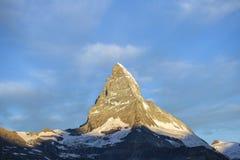 Matterhorn-Sonnenaufgang Stockfotografie