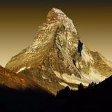 Matterhorn am Sonnenuntergang Stockfotos