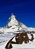 Matterhorn-Spitze bei Gornerg Stockbilder