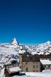Matterhorn-Spitze bei Gornerg Lizenzfreies Stockbild