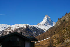 Matterhorn in spring, Zermatt Royalty Free Stock Photography