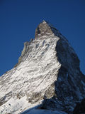 Matterhorn summit. Summit of Matterhorn in the Swiss Alps, north- and east face royalty free stock photos