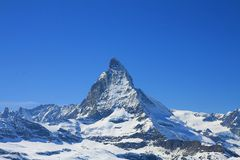 Matterhorn in sunny day Royalty Free Stock Photo