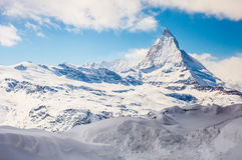 Matterhorn in sunny day. Snowy matterhorn in sunny day , Switzerland royalty free stock photos