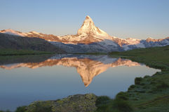 The Matterhorn sunrise on a summer morning Royalty Free Stock Photography