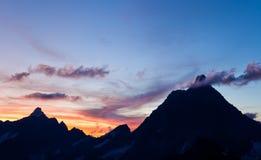 Matterhorn at sunset Stock Images