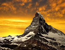 Matterhorn. In the sunset - Swiss Alps Stock Images