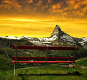Matterhorn in the sunset Royalty Free Stock Image
