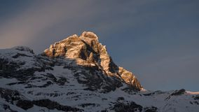 Matterhorn, sunset in a time lapse stock video footage