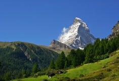 Matterhorn - support dans les Alpes suisses Photos libres de droits