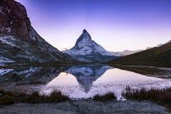Matterhorn, Svizzera Fotografie Stock Libere da Diritti