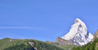 Matterhorn in the Swiss Alps Royalty Free Stock Photography