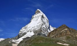 Matterhorn in the Swiss Alps Royalty Free Stock Image