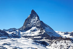 Matterhorn in Switzerland. Matterhorn Peak, view from Riffelberg, Swiss Alps, Europe Stock Image