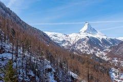 matterhorn switzerland Arkivfoto