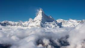 The Matterhorn. In Switzerland above the clouds Stock Photos