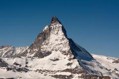 The Matterhorn in Switzerland. The famous mountain called the Matterhorn in Switzerland, Europe Stock Photo