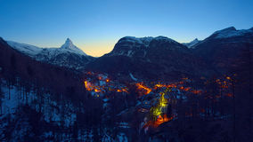Matterhorn, Switzerland. The Matterhorn peak, Zermatt, Switzerland stock photo
