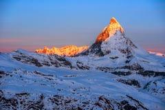 Matterhorn, Switzerland. Stock Photo