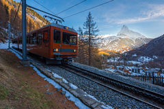 Matterhorn, Switzerland. The Matterhorn peak, Zermatt, Switzerland stock images