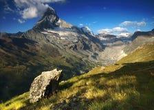 Matterhorn, Switzerland. Matterhorn, Walais Alps, Switzerland Stock Photo