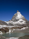Matterhorn the Switzerland symbol and a lake Royalty Free Stock Photography
