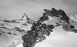 matterhorn switzerland torn Royaltyfri Fotografi