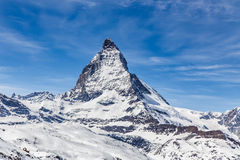 matterhorn switzerland zermatt Arkivfoton