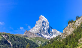 matterhorn switzerland zermatt Arkivfoto