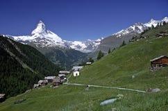 matterhorn switzerland zermatt Royaltyfria Bilder