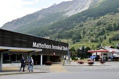 Matterhorn terminaltasch Fotografering för Bildbyråer