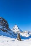Matterhorn and tone heap Stock Photography