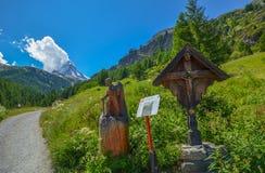 Matterhorn, top of Swiss alps. Stock Photo