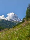 Matterhorn, top of Swiss alps. Royalty Free Stock Images