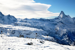 Matterhorn top in Zermatt Switzerland Royalty Free Stock Photography