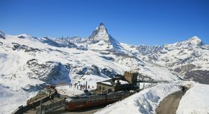 Matterhorn train station Royalty Free Stock Image