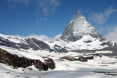 Matterhorn from Trockener Steg Stock Photo
