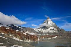 Matterhorn, una montaña hermosa en Zermat fotografía de archivo