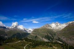 Matterhorn, una visión amplia imagen de archivo libre de regalías