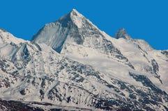 Matterhorn und Einbuchtung Blanche stockbild