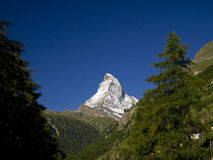 Matterhorn under the bright light of sunny day Royalty Free Stock Photo